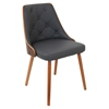 Gianna Dining Chair - Gray, Button Tufted