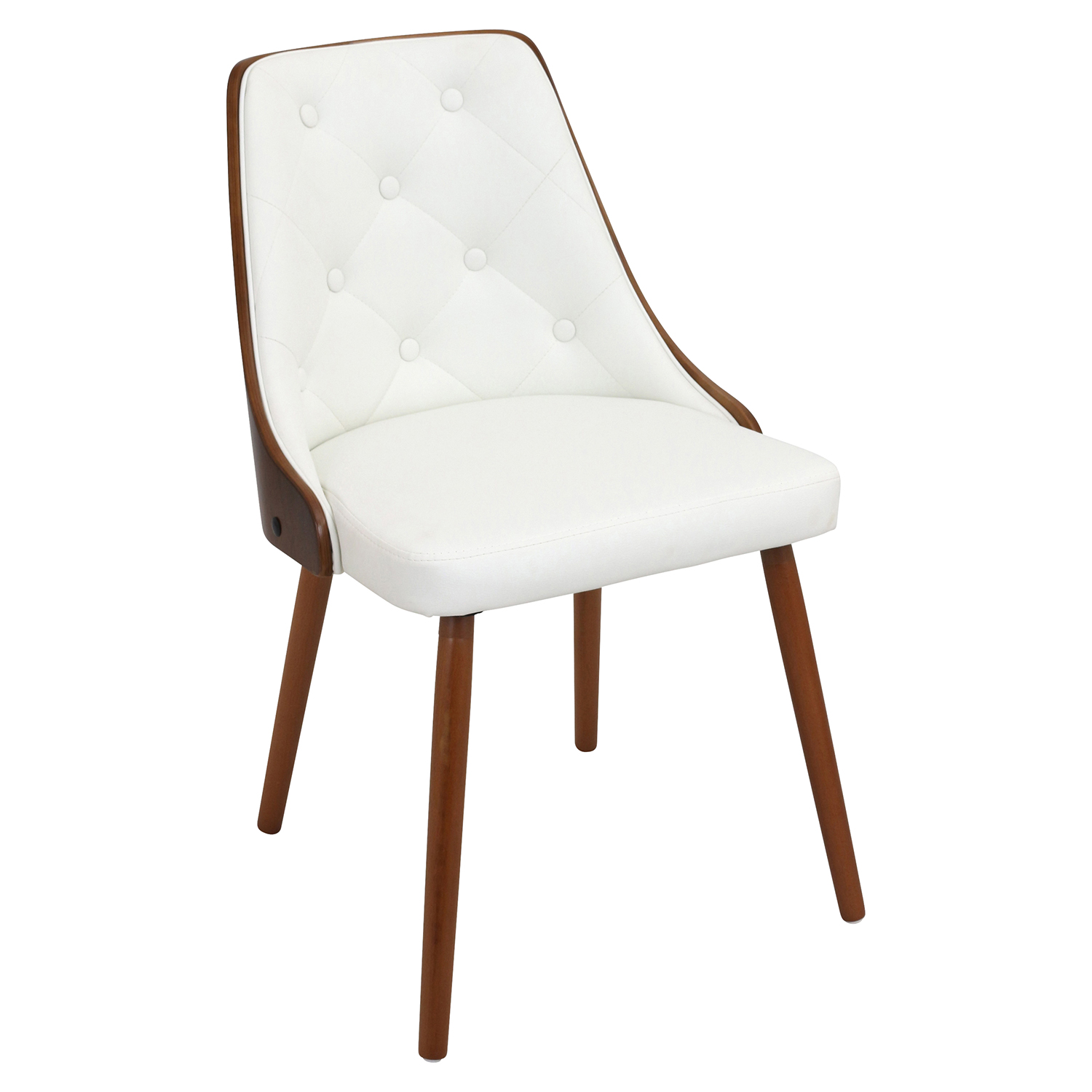Gianna Dining Chair - White, Button Tufted