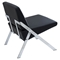 Lambda Accent Chair - Chrome, Black - LMS-CH-LAMDA-BK