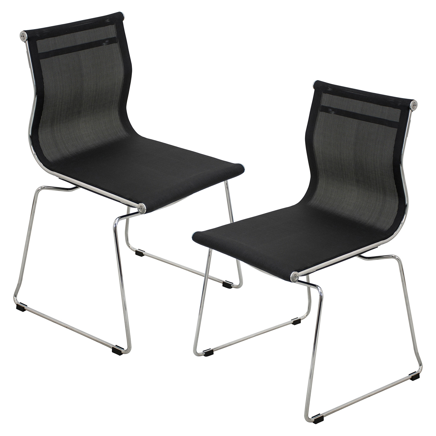 Mirage Stackable Dining Chair - Black (Set of 2)