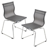 Mirage Stackable Dining Chair - Silver (Set of 2)