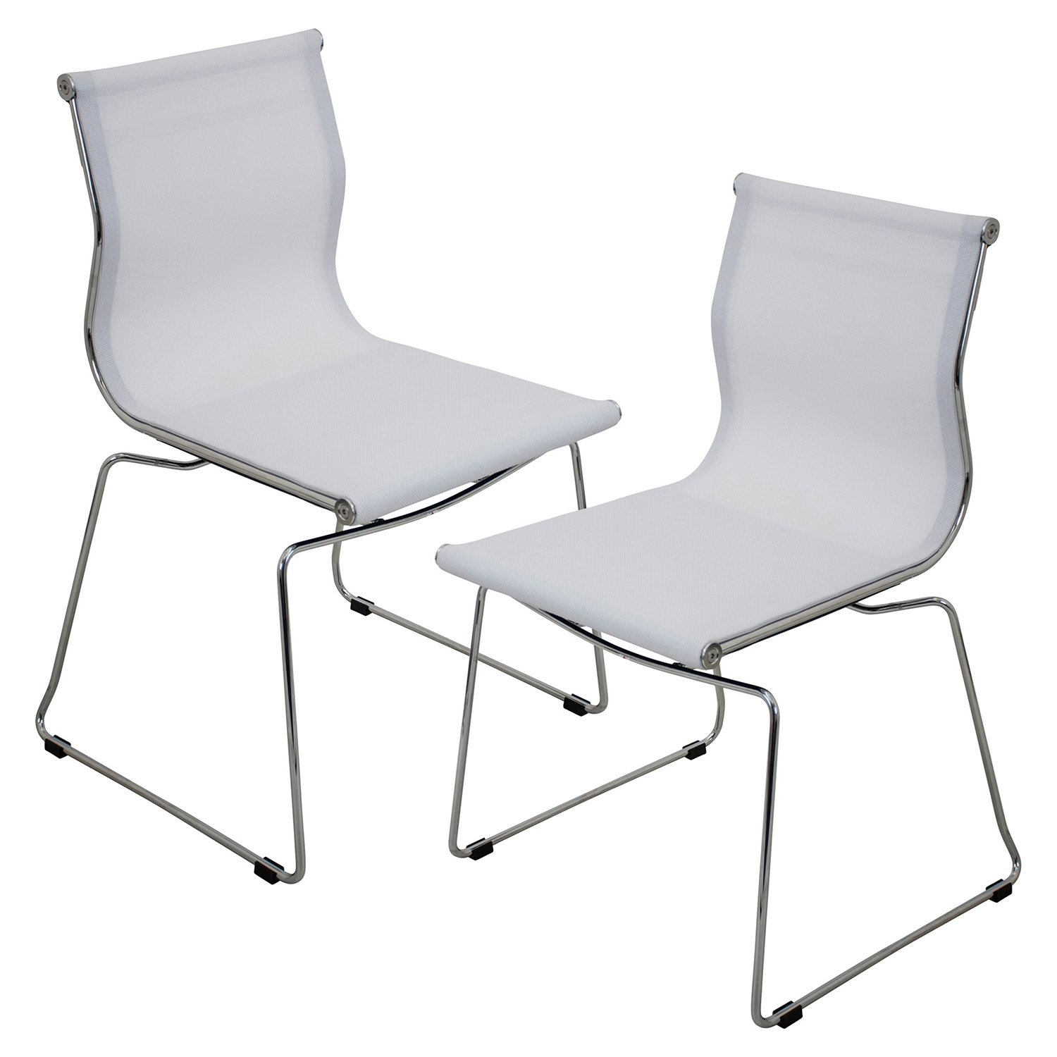 Mirage Stackable Dining Chair - White (Set of 2)