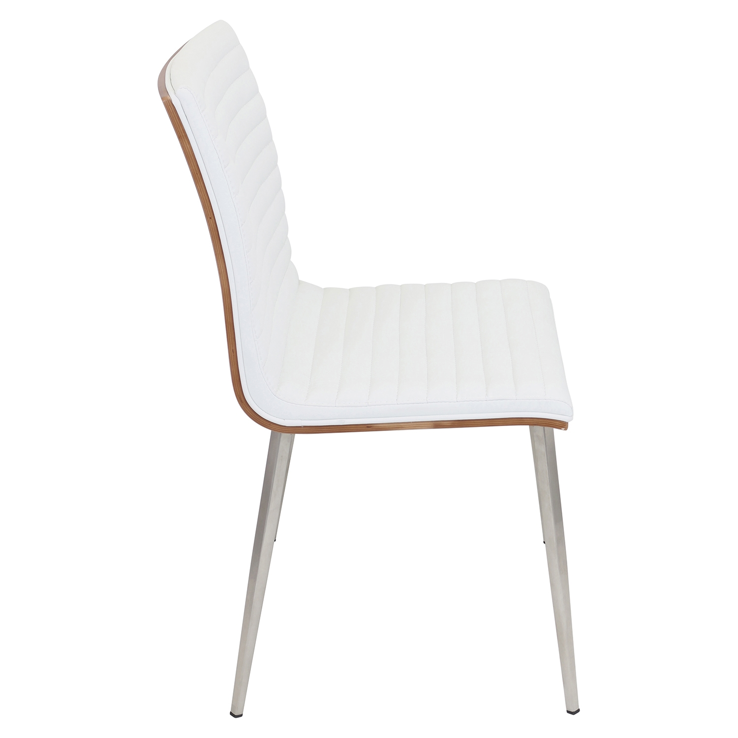 Mason Leatherette Dining Chair - Walnut, Off-White (Set of 2) - LMS-CH-MSN-WL-W2