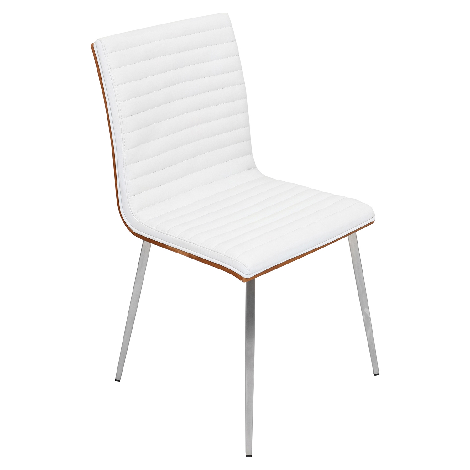 Mason Leatherette Dining Chair - Walnut, Off-White (Set of 2)