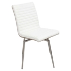 Mason Leatherette Dining Chair - Swivel, Walnut, Off-White (Set of 2)