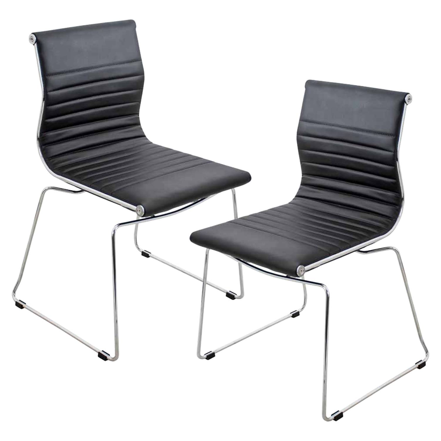 Master Stackable Dining Chair - Black (Set of 2)