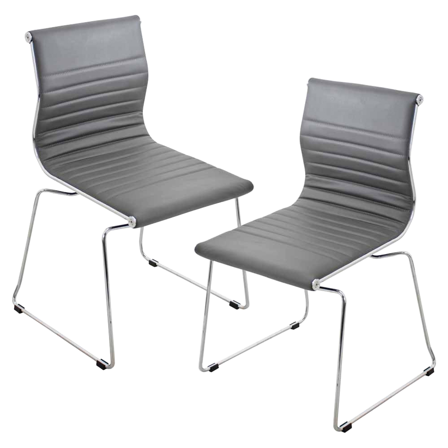 Master Stackable Dining Chair - Gray (Set of 2)