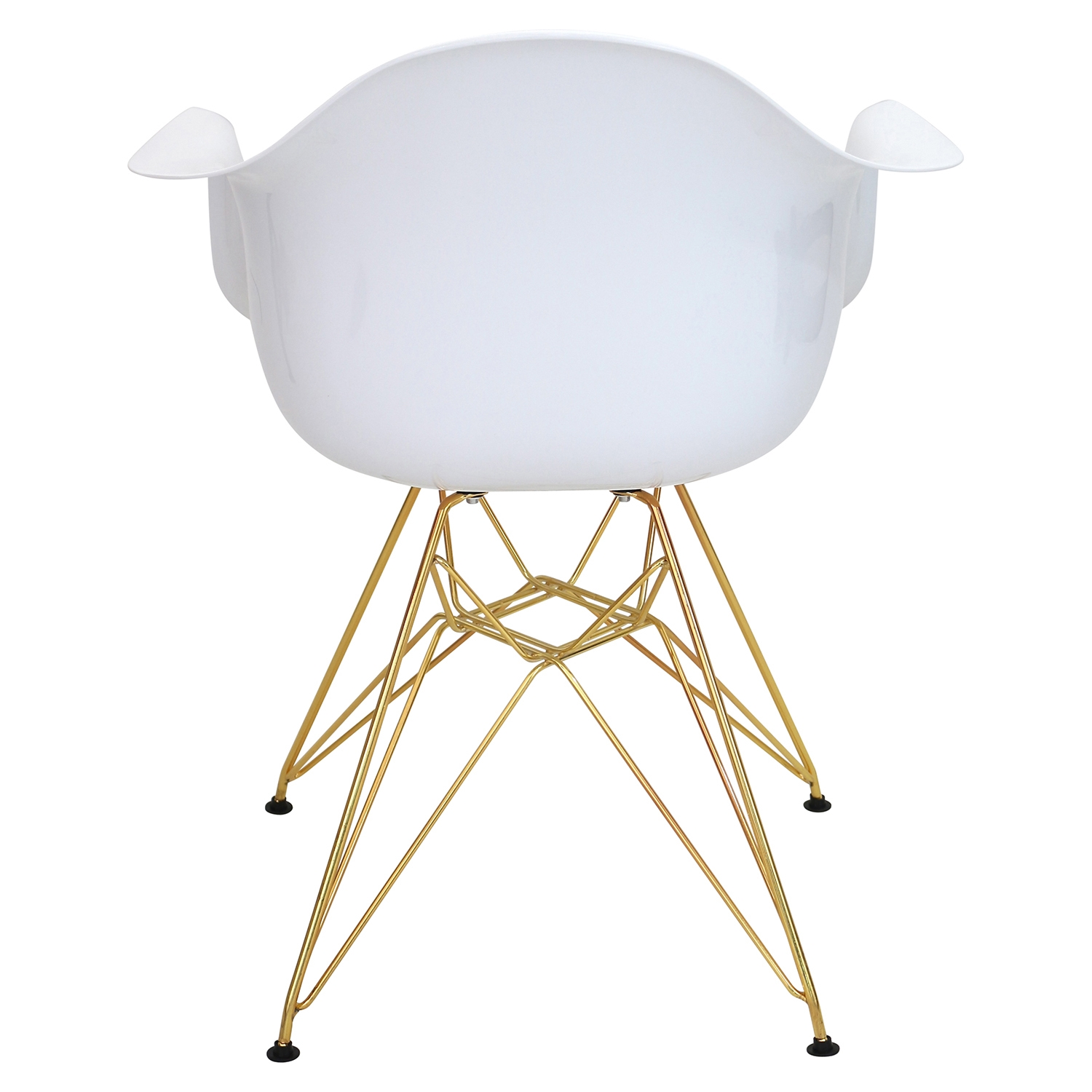 Neo Flair Chair - White, Gold - LMS-CH-NFLABS-W-AU