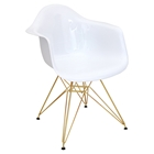 Neo Flair Chair - White, Gold