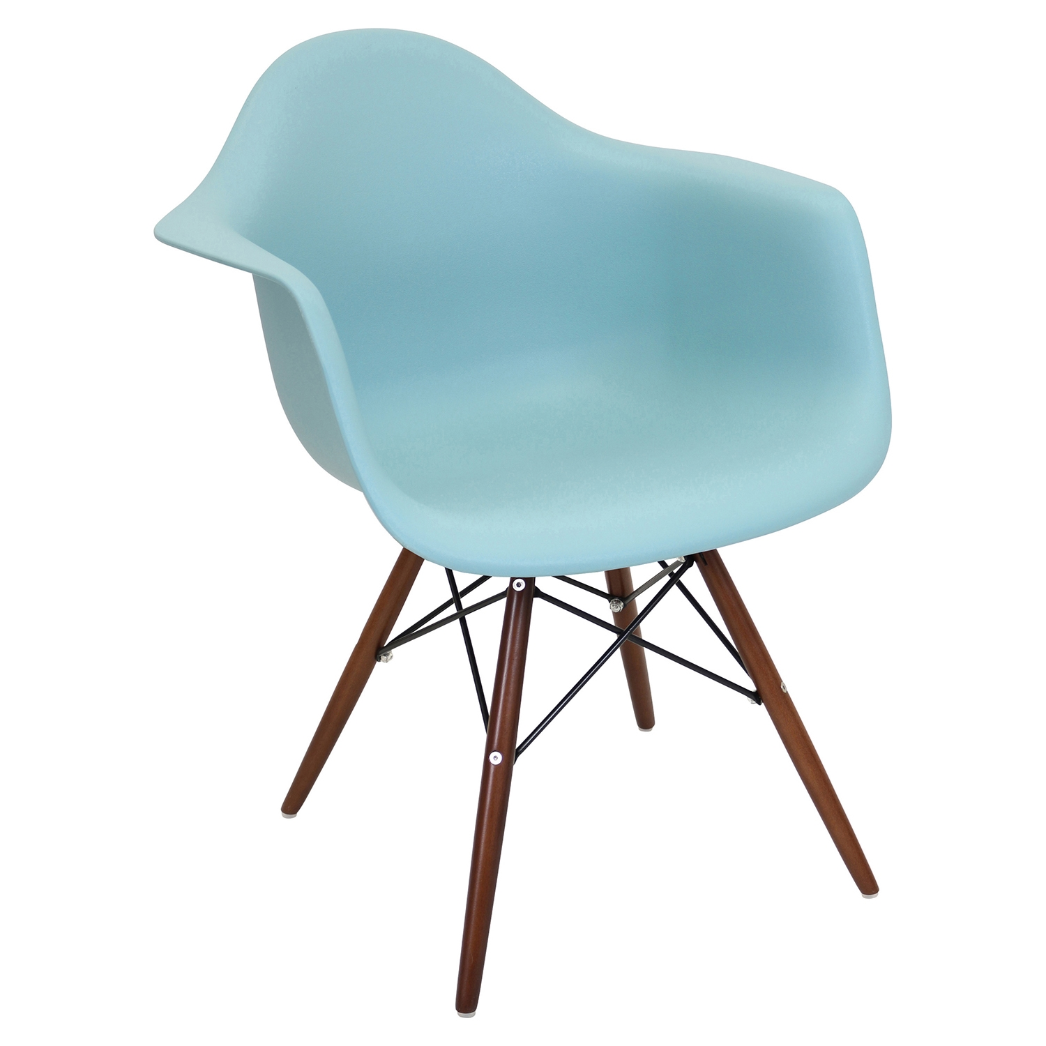Neo Flair Chair - Sea Green, Espresso (Set of 2)
