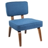 Nunzio Accent Chair - Navy Blue