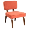 Nunzio Accent Chair - Deep Orange