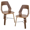 Trilogy Wood Dining Chair - Walnut (Set of 2)