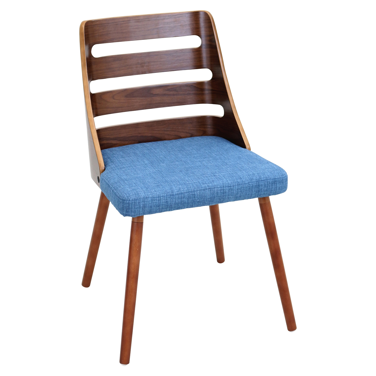 Trevi Dining Chair - Walnut, Blue
