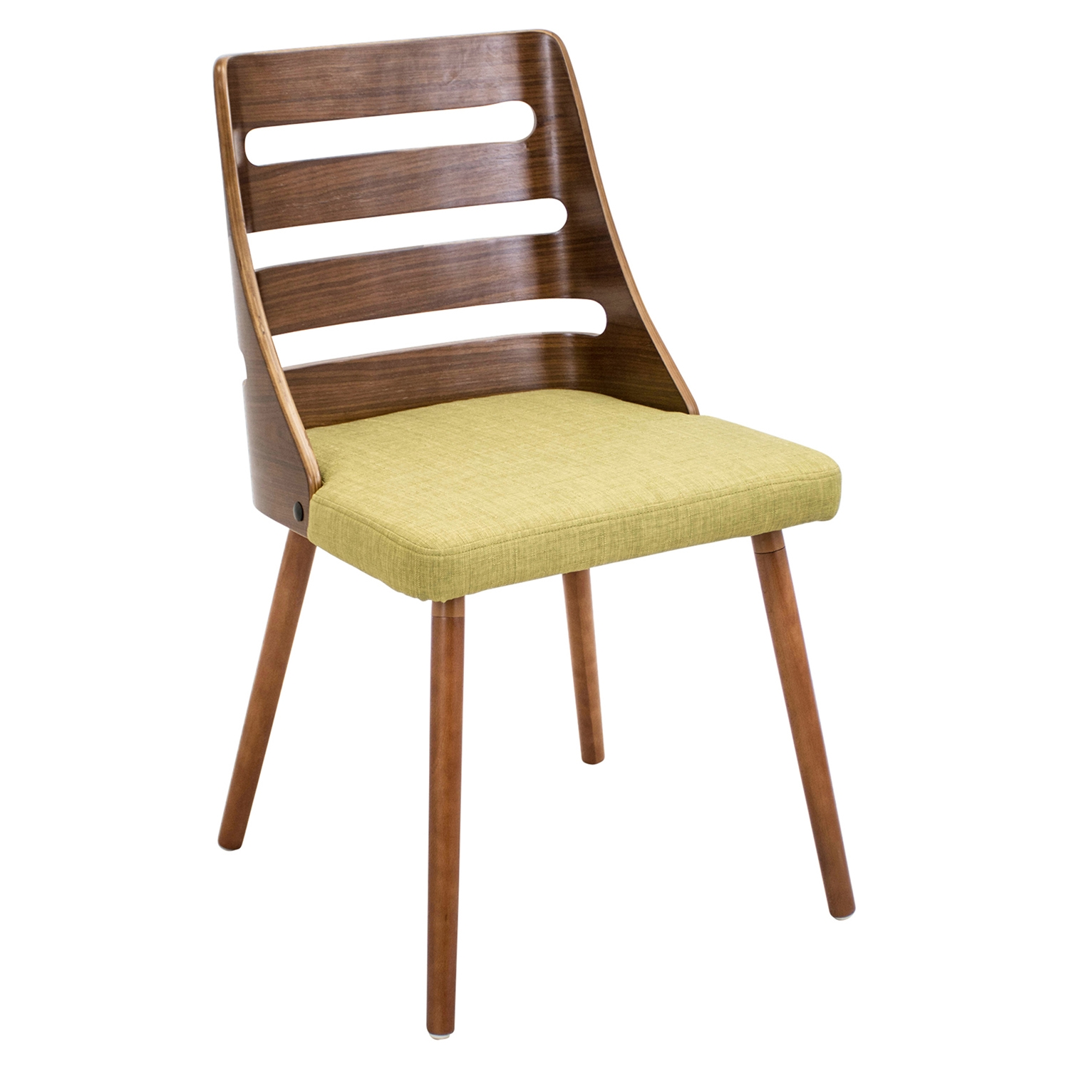 Trevi Dining Chair - Walnut, Green