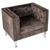Valentina Tufted Upholstery Armchair - Brown