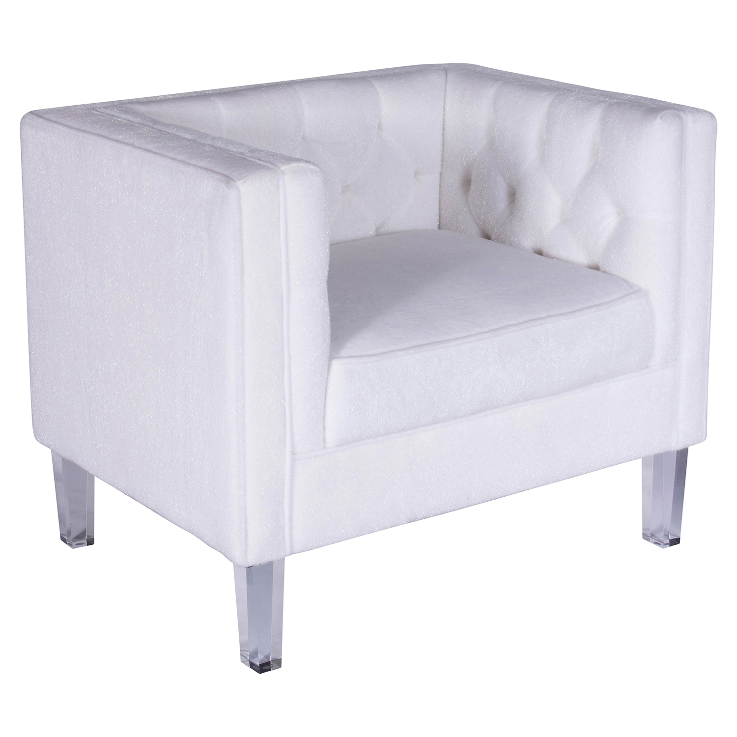 Valentina Tufted Upholstery Armchair - Bone White