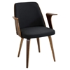 Verdana Office Chair - Walnut, Black
