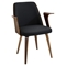 Verdana Office Chair - Walnut, Black - LMS-CH-VRDNA-WL-BK