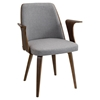 Verdana Office Chair - Walnut, Gray