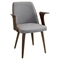 Verdana Office Chair - Walnut, Gray - LMS-CH-VRDNA-WL-GY