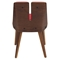 Varzi Dining Chair - Walnut, Red - LMS-CH-VRZI-WL-R