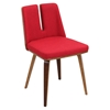 Varzi Dining Chair - Walnut, Red