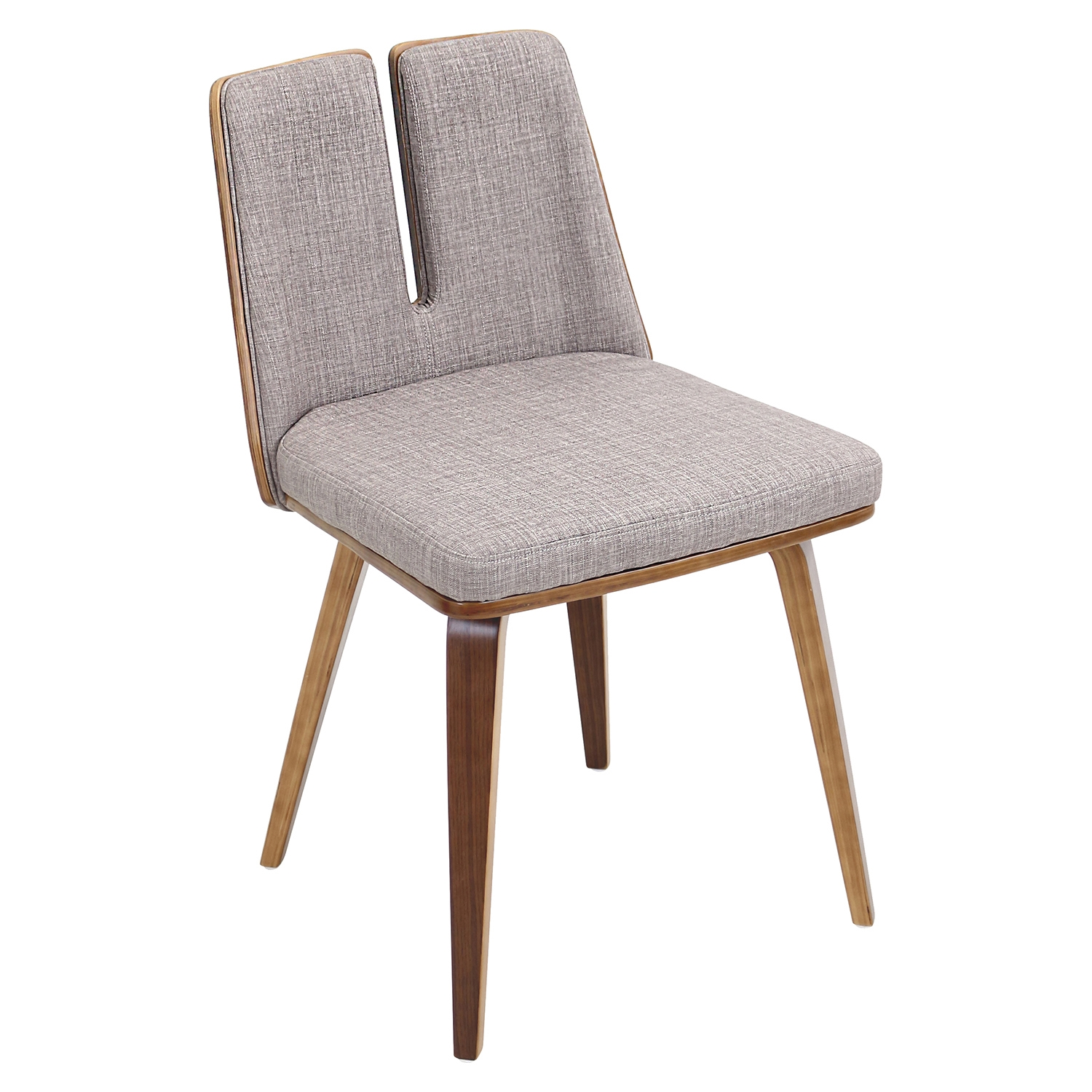 Varzi Dining Chair - Walnut, Taupe