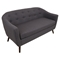 Rockwell Upholstery Sofa - Button Tufted, Charcoal Gray - LMS-CHR-AH-RK58-GY