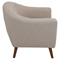 Rockwell Upholstery Armchair - Button Tufted, Beige - LMS-CHR-AH-RKWL-BG