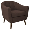 Rockwell Upholstery Armchair - Button Tufted, Espresso