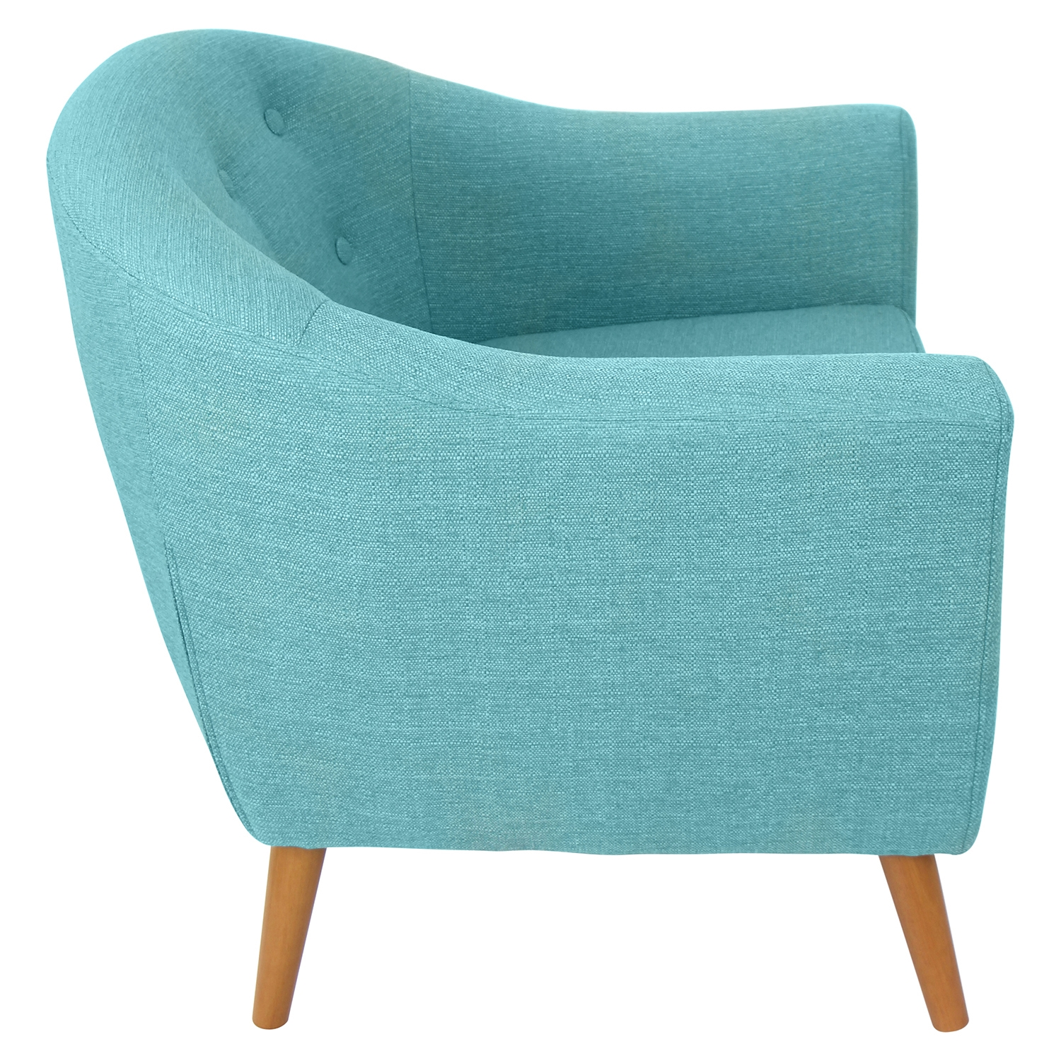 Rockwell Upholstery Armchair - Button Tufted, Teal - LMS-CHR-AH-RKWL-TL