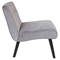 Vintage Crush Upholstery Accent Chair - Silver - LMS-CHR-AH-VCR-SV