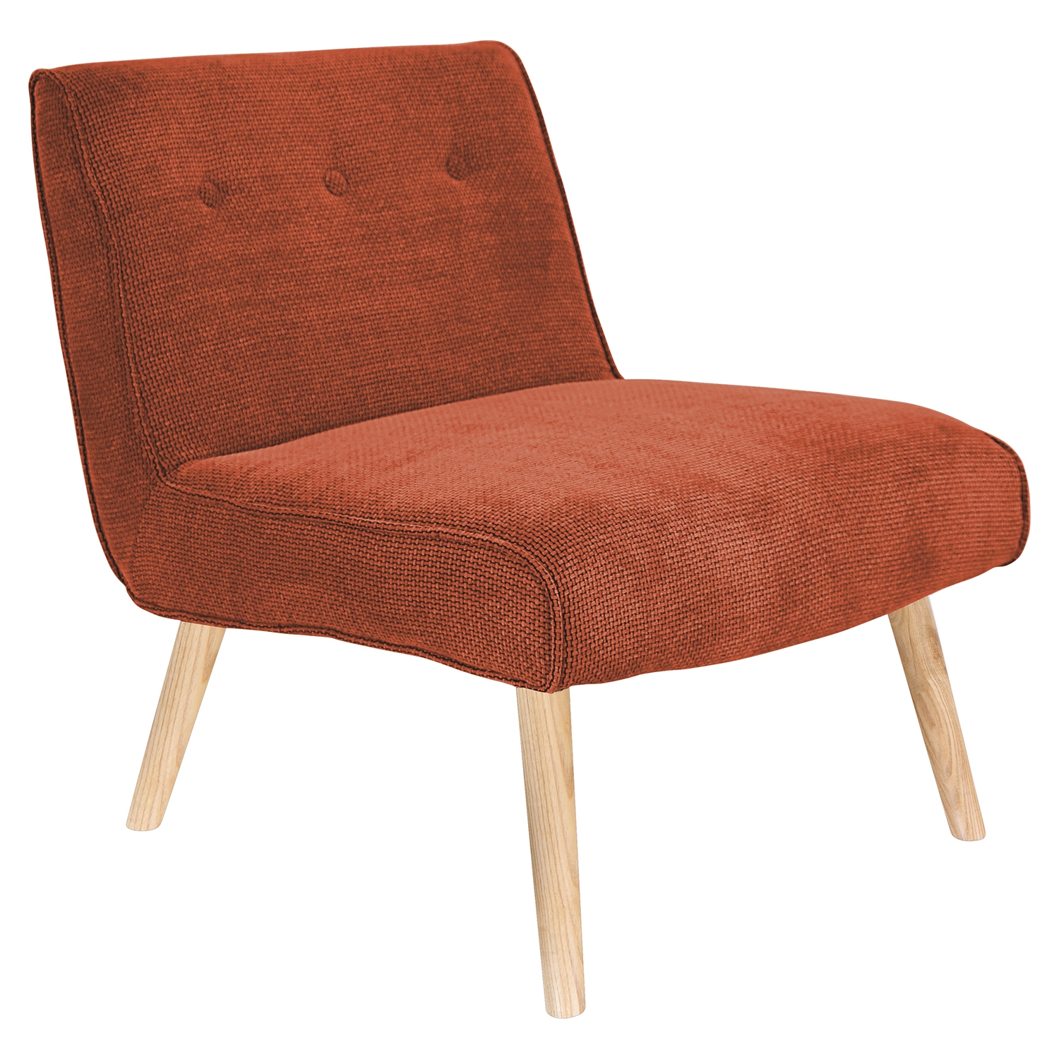 Vintage Neo Upholstery Accent Chair - Orange - LMS-CHR-AH-VNEO-O