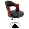 Cello Adjustable Chair in Cherry Wood with Black Seat