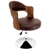 Cello Adjustable Chair in Walnut Wood and Brown Seat