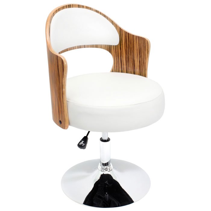 Cello Adjustable Height Chair - Swivel, Zebra Wood - LMS-CHR-CLO-ZB-W
