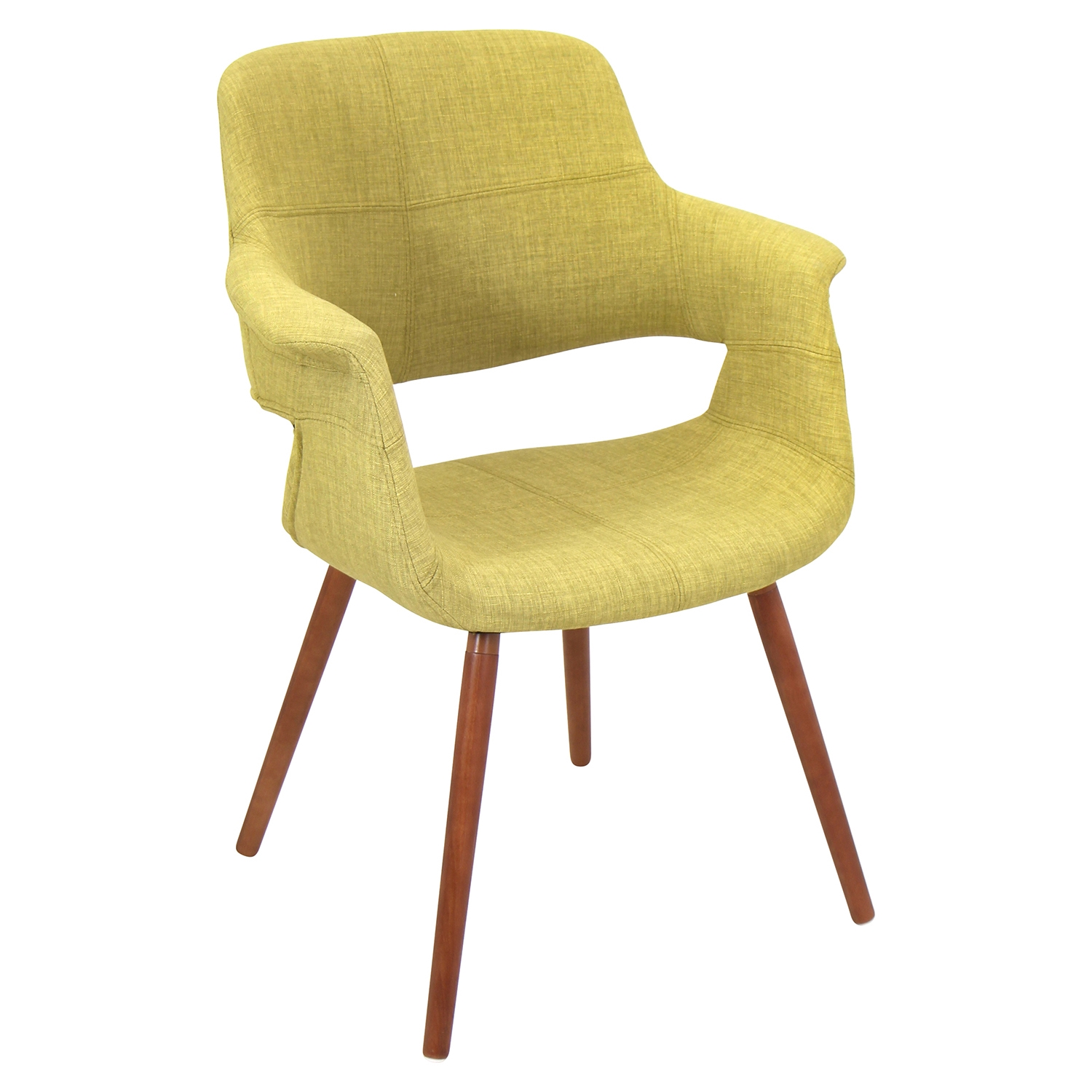 Vintage Flair Chair - Walnut, Green