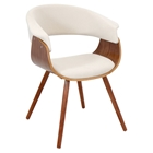 Vintage Mod Chair - Walnut, Cream