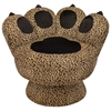 Paw Lounge Chair with Leopard Prints