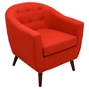 Rockwell Upholstery Armchair - Button Tufted, Red