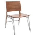 Tetra Wood Dining Chair - Walnut (Set of 2)