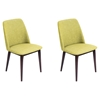 Tintori Upholstery Dining Chair - Green, Espresso (Set of 2)