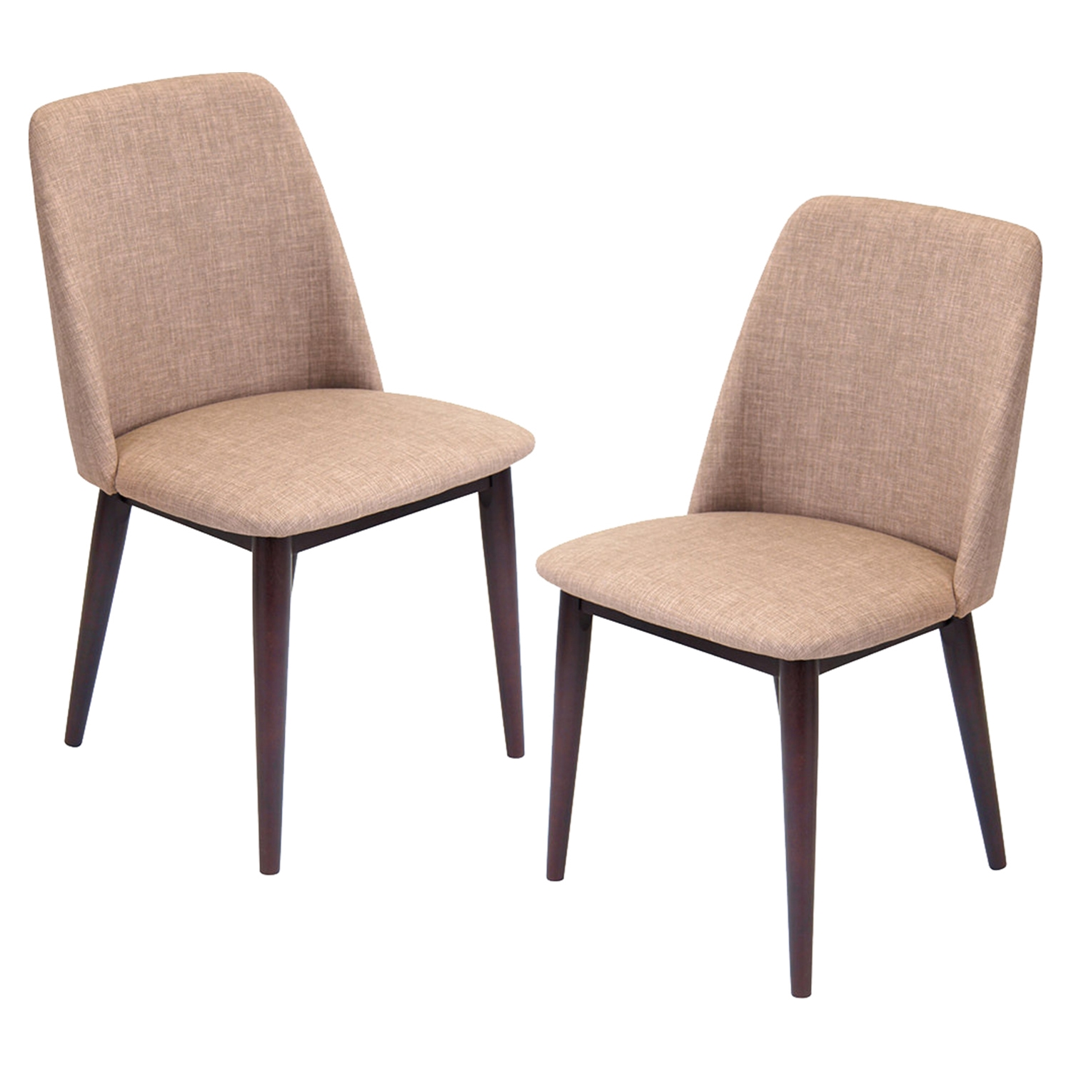 Tintori Upholstery Dining Chair - Brown, Espresso (Set of 2)
