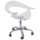 Rumor Acrylic Swivel Chair