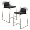 Cascade Stackable Counter Stool - Black (Set of 2)