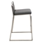 Cascade Stackable Counter Stool - Gray (Set of 2) - LMS-CS-CASC-GY2
