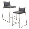 Cascade Stackable Counter Stool - Gray (Set of 2)