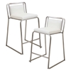 Cascade Stackable Counter Stool - White (Set of 2)