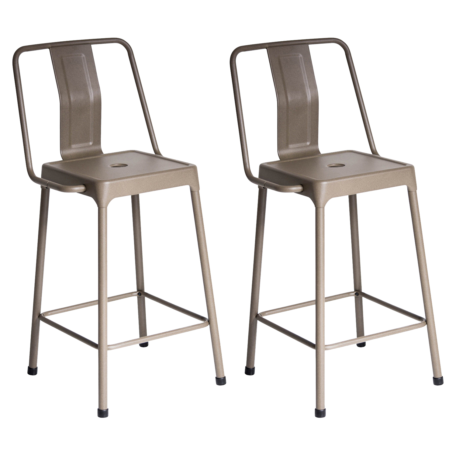 Energy Counter Stool - Cappuccino (Set of 2) - LMS-CS-CF-ENRG-CAP2